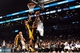 Nov 27, 2013; Brooklyn, NY, USA; Brooklyn Nets small forward Paul Pierce (34) goes up for a shot against the Los Angeles Lakers during the second half at Barclays Center. The Lakers won 99-94. Mandatory Credit: Joe Camporeale-USA TODAY Sports