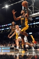 Nov 27, 2013; Brooklyn, NY, USA; Los Angeles Lakers power forward Shawne Williams (3) grabs a loose ball against the Brooklyn Nets during the second half at Barclays Center. The Lakers won 99-94. Mandatory Credit: Joe Camporeale-USA TODAY Sports