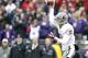 Nov 29, 2013; Seattle, WA, USA; Washington State Cougars quarterback Connor Hlliday (12) passes against the Washington Huskies during the first quarter at Husky Stadium. Mandatory Credit: Joe Nicholson-USA TODAY Sports