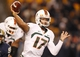 Nov 29, 2013; Pittsburgh, PA, USA; Miami Hurricanes quarterback Stephen Morris (17) passes the ball against the Pittsburgh Panthers during the third quarter at Heinz Field. Miami won 41-31. Mandatory Credit: Charles LeClaire-USA TODAY Sports