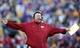 Nov 29, 2013; Baton Rouge, LA, USA; Arkansas Razorbacks head coach Bret Bielema reacts in the second half against the LSU Tigers at Tiger Stadium. LSU defeated Arkansas 31-27. Mandatory Credit: Crystal LoGiudice-USA TODAY Sports