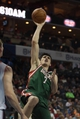 Nov 29, 2013; Charlotte, NC, USA; Milwaukee Bucks power forward Ersan Ilyasova (7) shoots during the first half against the Charlotte Bobcats at Time Warner Cable Arena. Mandatory Credit: Jeremy Brevard-USA TODAY Sports