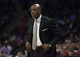 Nov 29, 2013; Charlotte, NC, USA; Milwaukee Bucks head coach Larry Drew looks on during the first half against the Charlotte Bobcats at Time Warner Cable Arena. Mandatory Credit: Jeremy Brevard-USA TODAY Sports
