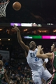 Nov 29, 2013; Charlotte, NC, USA; Charlotte Bobcats center Al Jefferson (25) goes up for a shot against the Milwaukee Bucks during the second half at Time Warner Cable Arena. Bobcats defeated the Bucks 92-76. Mandatory Credit: Jeremy Brevard-USA TODAY Sports