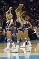 Nov 29, 2013; Charlotte, NC, USA; Charlotte Bobcats ladycats perform during a timeout during the second half against the Milwaukee Bucks at Time Warner Cable Arena. Bobcats defeated the Bucks 92-76. Mandatory Credit: Jeremy Brevard-USA TODAY Sports