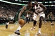 Nov 29, 2013; Boston, MA, USA; Boston Celtics shooting guard Jeff Green (8) drives past Cleveland Cavaliers small forward Anthony Bennett (15) during the second quarter at TD Garden. Mandatory Credit: Winslow Townson-USA TODAY Sports