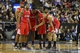 Nov 29, 2013; Sacramento, CA, USA; Los Angeles Clippers huddle between plays against the Sacramento Kings during the third quarter at Sleep Train Arena. The Los Angeles Clippers defeated the Sacramento Kings 104-98 in overtime. Mandatory Credit: Kelley L Cox-USA TODAY Sports