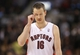 Nov 26, 2013; Toronto, Ontario, CAN; Toronto Raptors forward Steve Novak (16) during their game against the Brooklyn Nets at Air Canada Centre. The Nets beat the Raptors 102-100. Mandatory Credit: Tom Szczerbowski-USA TODAY Sports