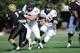 Nov 30, 2013; Nashville, TN, USA; Wake Forest Demon Deacons quarterback Tanner Price (10) runs the ball against the Vanderbilt Commodores during the second quarter at Vanderbilt Stadium. Mandatory Credit: Randy Sartin-USA TODAY Sports