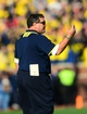 Nov 30, 2013; Ann Arbor, MI, USA; Michigan Wolverines head coach Brady Hoke on the sidelines during the third quarter against the Ohio State Buckeyes at Michigan Stadium. Mandatory Credit: Andrew Weber-USA TODAY Sports