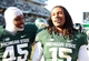 Nov 30, 2013; East Lansing, MI, USA; Michigan State Spartans linebacker Darien Harris (45) and cornerback Trae Waynes (15) celebrate after a game against the Minnesota Golden Gophers at Spartan Stadium. Mandatory Credit: Mike Carter-USA TODAY Sports