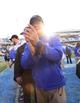 Nov 30, 2013; Chapel Hill, NC, USA;  Duke Blue Devils head coach David Cutcliff after the game. The Duke Blue Devils defeated the North Carolina Tar Heels 27-25 at Kenan Memorial Stadium. Mandatory Credit: Bob Donnan-USA TODAY Sports