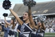 Nov 30, 2013; Houston, TX, USA; Rice Owls cheerleaders perform during the second quarter against the Tulane Green Wave at Rice Stadium. Mandatory Credit: Troy Taormina-USA TODAY Sports