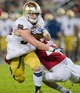 Nov 30, 2013; Stanford, CA, USA; Notre Dame Fighting Irish running back Cam McDaniel (33) is tackled by Stanford Cardinal safety Ed Reynolds (29) in the second quarter at Stanford Stadium. Mandatory Credit: Matt Cashore-USA TODAY Sports