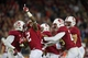 Nov 30, 2013; Stanford, CA, USA; Stanford Cardinal cornerback Wayne Lyons (2) celebrates after an interception in the fourth quarter against the Notre Dame Fighting Irish at Stanford Stadium. Stanford won 27-20. Mandatory Credit: Matt Cashore-USA TODAY Sports