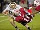 Nov 30, 2013; Stanford, CA, USA; Notre Dame Fighting Irish quarterback Tommy Rees (11) is sacked by Stanford Cardinal linebacker Shayne Skov (11) in the fourth quarter at Stanford Stadium. Stanford won 27-20. Mandatory Credit: Matt Cashore-USA TODAY Sports
