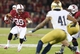 Nov 30, 2013; Stanford, CA, USA; Stanford Cardinal wide receiver Kelsey Young (39) carries the ball against the Notre Dame Fighting Irish during the fourth quarter at Stanford Stadium. The Stanford Cardinal defeated the Notre Dame Fighting Irish 27-20. Mandatory Credit: Kelley L Cox-USA TODAY Sports