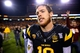 Nov 30, 2013; Tempe, AZ, USA; Arizona State Sun Devils quarterback Taylor Kelly following the game against the Arizona Wildcats in the 87th annual Territorial Cup at Sun Devil Stadium. Arizona State defeated Arizona 58-21. Mandatory Credit: Mark J. Rebilas-USA TODAY Sports