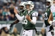 Dec 1, 2013; East Rutherford, NJ, USA; New York Jets quarterback Matt Simms (5) reacts during the fourth quarter of a game against the Miami Dolphins at MetLife Stadium. The Dolphins defeated the Jets 23-3. Mandatory Credit: Brad Penner-USA TODAY Sports