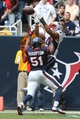 Dec 1, 2013; Houston, TX, USA; New England Patriots running back Shane Vereen (34) can not make the catch in the end zone during the fourth quarter against Houston Texans linebacker Darryl Sharpton (51) at Reliant Stadium. The Patriots beat the Texans 34-31. Mandatory Credit: Matthew Emmons-USA TODAY Sports