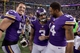 Dec 1, 2013; Minneapolis, MN, USA; Minnesota Vikings kicker Blair Walsh (3) celebrates with linebacker Chad Greenway (52) and wide receiver Joe Webb (14) following the game against the Chicago Bears at Mall of America Field at H.H.H. Metrodome. The Vikings defeated the Bears 23-20 in overtime. Mandatory Credit: Brace Hemmelgarn-USA TODAY Sports