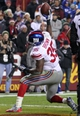 Dec 1, 2013; Landover, MD, USA; New York Giants running back Andre Brown (35) celebrates after scoring a touchdown against the Washington Redskins in the fourth quarter at FedEx Field. The Giants won 24-17. Mandatory Credit: Geoff Burke-USA TODAY Sports