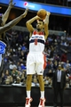 Dec 2, 2013; Washington, DC, USA; Washington Wizards point guard Eric Maynor (6) attempts a shot against the Orlando Magic during the first half at the Verizon Center. Mandatory Credit: Brad Mills-USA TODAY Sports