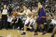Nov 19, 2013; Sacramento, CA, USA; Sacramento Kings point guard Jimmer Fredette (7) controls the ball against Phoenix Suns shooting guard Gerald Green (14) during the fourth quarter at Sleep Train Arena. The Sacramento Kings defeated the Phoenix Suns 107-104. Mandatory Credit: Kelley L Cox-USA TODAY Sports