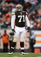 Dec 1, 2013; Cleveland, OH, USA; Cleveland Browns defensive end Ahtyba Rubin (71) against the Jacksonville Jaguars at FirstEnergy Stadium. Mandatory Credit: Andrew Weber-USA TODAY Sports