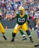Nov 24, 2013; Green Bay, WI, USA; Green Bay Packers center Evan Dietrich-Smith (62) during the game against the Minnesota Vikings at Lambeau Field.  The Vikings and Packers tied 26-26.  Mandatory Credit: Jeff Hanisch-USA TODAY Sports