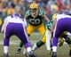 Nov 24, 2013; Green Bay, WI, USA; Green Bay Packers linebacker A.J. Hawk (50) during the game against the Minnesota Vikings at Lambeau Field.  The Vikings and Packers tied 26-26.  Mandatory Credit: Jeff Hanisch-USA TODAY Sports