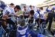 Nov 30, 2013; Chapel Hill, NC, USA;  Duke Blue Devils tight end Braxton Deaver (89) and linebacker Kyler Brown (56) and guard Dave Harding (74) and  wide receiver Max McCaffrey (87) and wide receiver Brandon Braxton (5) and safety Christian Conway (36) ring the victory bell after the game. The Blue Devils defeated the North Carolina Tar Heels 27-25 at Kenan Memorial Stadium. Mandatory Credit: Bob Donnan-USA TODAY Sports