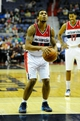 Dec 2, 2013; Washington, DC, USA; Washington Wizards shooting guard Glen Rice Jr. (14) shoots a free throw against the Orlando Magic during the second half at the Verizon Center. The Wizards defeated the Magic 98 - 80. Mandatory Credit: Brad Mills-USA TODAY Sports
