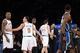 Dec 6, 2013; New York, NY, USA; New York Knicks small forward Metta World Peace (51) shouts toward the Orlando Magic bench during the second half at Madison Square Garden. The Knicks won the game 121-83. Mandatory Credit: Joe Camporeale-USA TODAY Sports