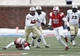 Dec 7, 2013; Dallas, TX, USA; UCF Knights quarterback Blake Bortles (5) runs out of the pocket in front of Southern Methodist Mustangs linebacker Robert Seals (30)during the first half of an NCAA football game at Gerald J. Ford Stadium. Mandatory Credit: Jim Cowsert-USA TODAY Sports