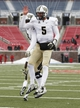 Dec 7, 2013; Dallas, TX, USA; UCF Knights quarterback Blake Bortles (5) celebrates his touchdown with offensive linesman Chris Martin (70) against the Southern Methodist Mustangs during the second half of an NCAA football game at Gerald J. Ford Stadium. UCF Knights won 17-13. Mandatory Credit: Jim Cowsert-USA TODAY Sports
