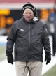 Dec 7, 2013; Dallas, TX, USA; UCF Knights head coach George O'Leary stands on the sidelines during the second half of an NCAA football game against the Southern Methodist Mustangs at Gerald J. Ford Stadium. UCF Knights won 17-13. Mandatory Credit: Jim Cowsert-USA TODAY Sports