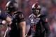 Dec 7, 2013; Fresno, CA, USA; Fresno State Bulldogs quarterback Derek Carr (4) walks towards the line of scrimmage against the Utah State Aggies in the second quarter at Bulldog Stadium. Mandatory Credit: Cary Edmondson-USA TODAY Sports