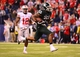 Dec 7, 2013; Indianapolis, IN, USA; Michigan State Spartans running back Jeremy Langford (33) rushes into the end zone for a touchdown during the fourth quarter of the 2013 Big 10 Championship game against the Ohio State Buckeyes at Lucas Oil Stadium. Mandatory Credit: Andrew Weber-USA TODAY Sports