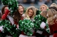 Dec 8, 2013; East Rutherford, NJ, USA; New York Jets cheerleaders perform during the game against the Oakland Raiders at MetLife Stadium. Mandatory Credit: Robert Deutsch-USA TODAY Sports