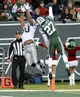 Dec 8, 2013; East Rutherford, NJ, USA; Oakland Raiders wide receiver Rod Streater (80) is unable to catch a pass while defended by New York Jets cornerback Dee Milliner (27) during the game at MetLife Stadium. Mandatory Credit: Robert Deutsch-USA TODAY Sports