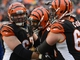 Dec 8, 2013; Cincinnati, OH, USA; Cincinnati Bengals tight end Jermaine Gresham (84) smiles and celebrates with his teammates after running in a touchdown during the second half of the game at Paul Brown Stadium. Cincinnati Bengals beat Indianapolis Colts 42-28 Mandatory Credit: Marc Lebryk-USA TODAY Sports