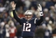 Dec 8, 2013; Foxborough, MA, USA; New England Patriots quarterback Tom Brady (12) signals for a touchdown during the fourth quarter of New England's 27-26 win over the Cleveland Browns at Gillette Stadium. Mandatory Credit: Winslow Townson-USA TODAY Sports