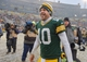 Dec 8, 2013; Green Bay, WI, USA;   Green Bay Packers quarterback Matt Flynn (10) walks off the field after the Packers beat the Atlanta Falcons 22-21 at Lambeau Field. Mandatory Credit: Benny Sieu-USA TODAY Sports