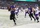 Dec 8, 2013; Baltimore, MD, USA; Baltimore Ravens wide receiver Jacoby Jones (12) returns a kickoff for a touchdown in the fourth quarter against the Minnesota Vikings at M&T Bank Stadium. Mandatory Credit: Evan Habeeb-USA TODAY Sports