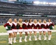 Dec 8, 2013; East Rutherford, NJ, USA; Members of the New York Jets cheerleaders pose for a photo during the second half against the Oakland Raiders at MetLife Stadium. The Jets defeated the Raiders 37-27.  Mandatory Credit: Ed Mulholland-USA TODAY Sports