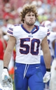 Dec 8, 2013; Tampa, FL, USA;Buffalo Bills middle linebacker Kiko Alonso (50) reacts on the sidelines during the second half against the Tampa Bay Buccaneers at Raymond James Stadium. Tampa Bay Buccaneers defeated the Buffalo Bills 27-6. Mandatory Credit: Kim Klement-USA TODAY Sports