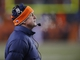 Dec 8, 2013; Denver, CO, USA; Denver Broncos head coach John Fox during the second half against the Tennessee Titans at Sports Authority Field at Mile High. The Broncos won 51-28.  Mandatory Credit: Chris Humphreys-USA TODAY Sports