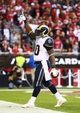 Dec 8, 2013; Phoenix, AZ, USA; St. Louis Rams running back Zac Stacy (30) celebrates after scoring a touchdown in the fourth quarter against the Arizona Cardinals at University of Phoenix Stadium. The Cardinals defeated the Rams 30-10. Mandatory Credit: Mark J. Rebilas-USA TODAY Sports