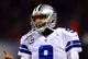 Dec 9, 2013; Chicago, IL, USA; Dallas Cowboys quarterback Tony Romo (9) on the sidelines during the fourth quarter against the Chicago Bears at Soldier Field. Mandatory Credit: Andrew Weber-USA TODAY Sports